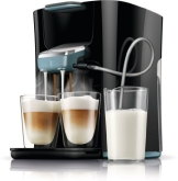 Philips Senseo HD7855/60 Latte Duo-Kaffeepadmaschine (2650 Watt, 1 L, Easy Clean-Taste) schwarz/blau - 1