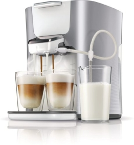 Philips Senseo HD7857/20 Latte Duo-Kaffeepadmaschine (2650 Watt, Touchpanel, Duo Latte-Funktion) silber - 1