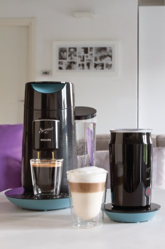 Philips Senseo HD7874/60 Twist & Milk Kaffeepadmaschine, misty dawn-schwarz